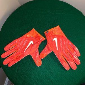Nike Orange Receiver Gloves Size XXL